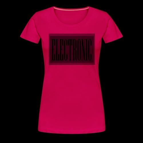 Electronic Logo - Women's Premium T-Shirt
