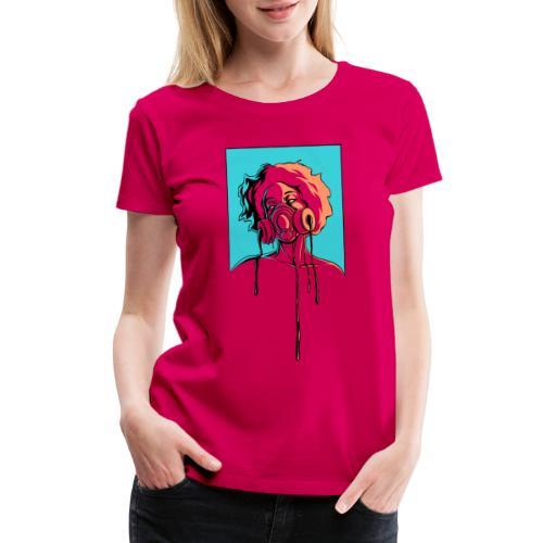 Toxic: aqua, orange - Women's Premium T-Shirt