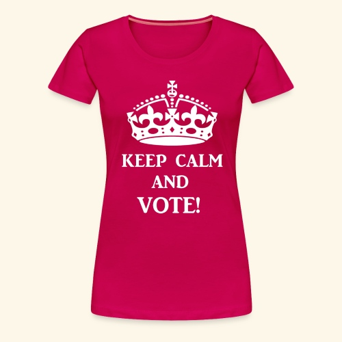 keep calm vote wht - Women's Premium T-Shirt