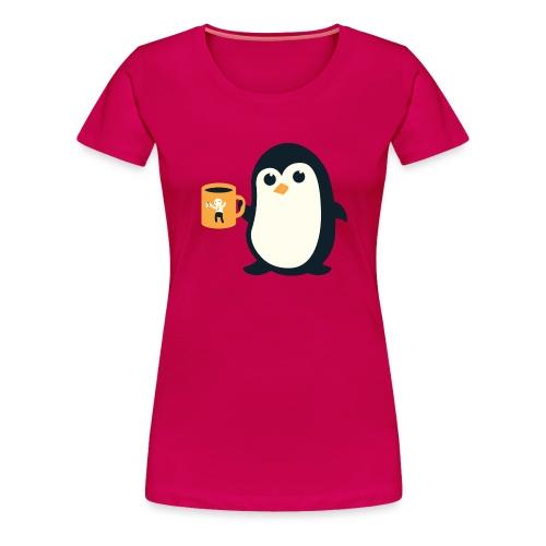 Cute Penguin Coffee - Women's Premium T-Shirt