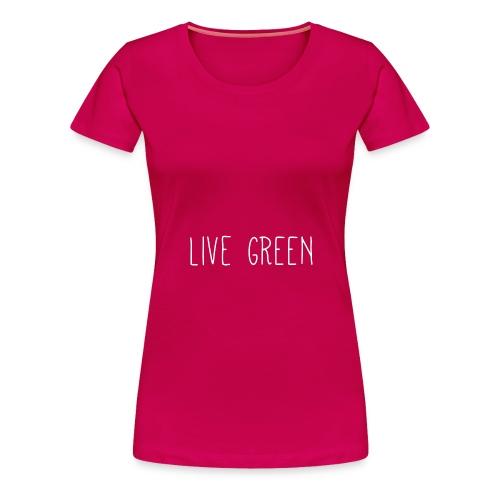 live green text - Women's Premium T-Shirt