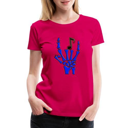Rock on hand sign the devil's horns - Women's Premium T-Shirt