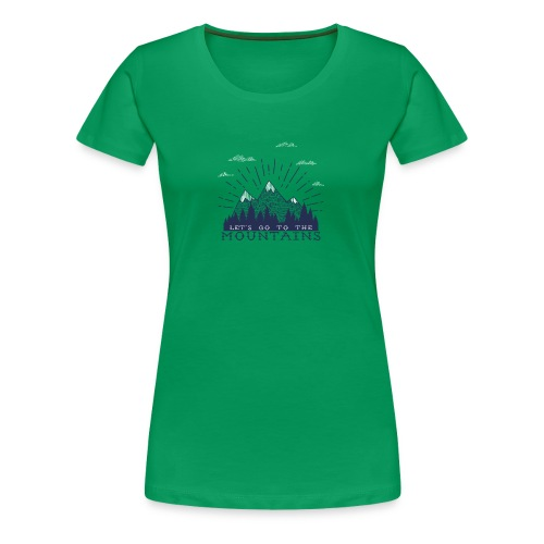 Adventure Mountains T-shirts and Products - Women's Premium T-Shirt