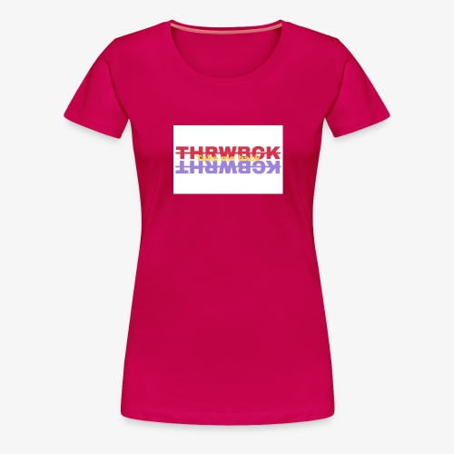 THRWBCK colors tee - Women's Premium T-Shirt