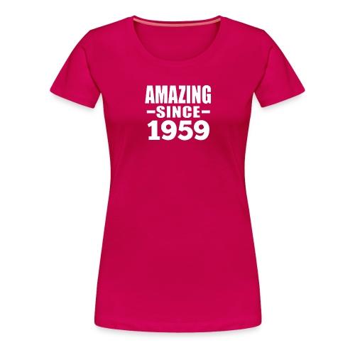 Vintage 1959 60th Birthday - Women's Premium T-Shirt