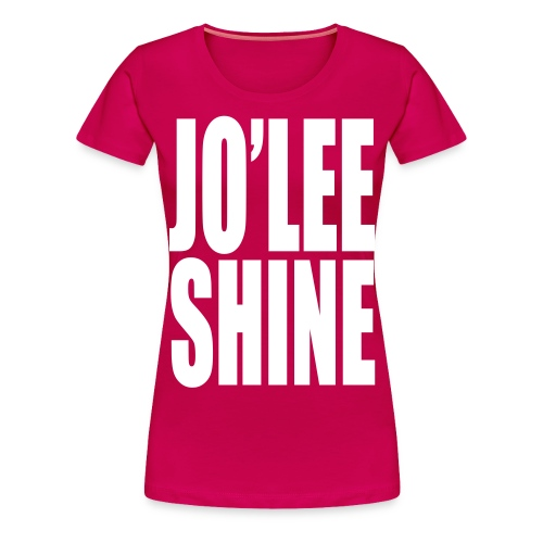 JO'LEE SHINE WOMEN'S T SHIRT WHT/PNK - Women's Premium T-Shirt