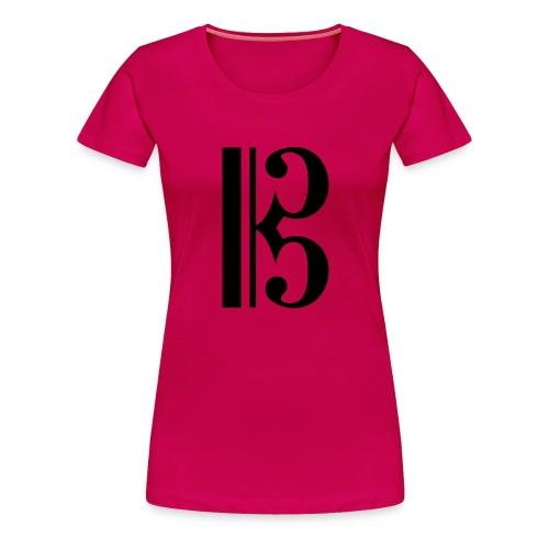 Tenor/Alto Clef - Women's Premium T-Shirt