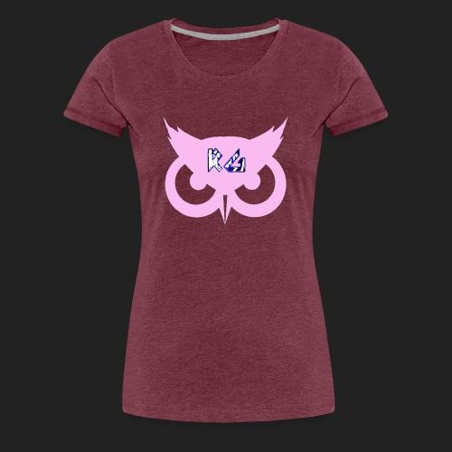 RG Pink Owl Logo - Women's Premium T-Shirt