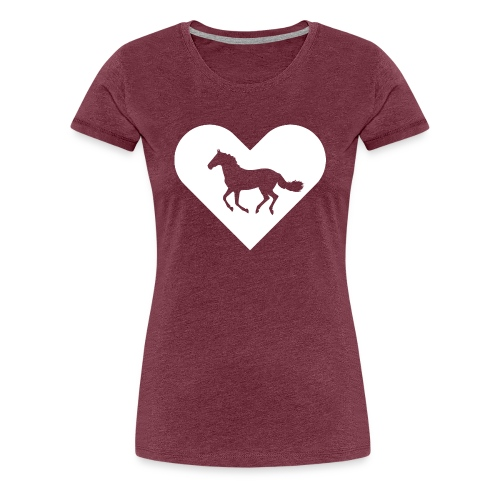Heart-Horse (white) - Women's Premium T-Shirt
