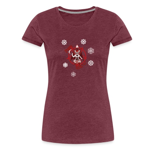 Purr evil Christmas pixel art cat - Women's Premium T-Shirt