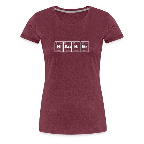 HAcKEr (White) - Women's Premium T-Shirt