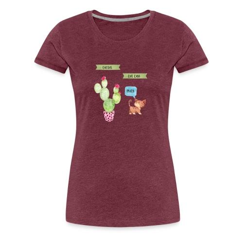 Cactus-Cat Cuss - Women's Premium T-Shirt