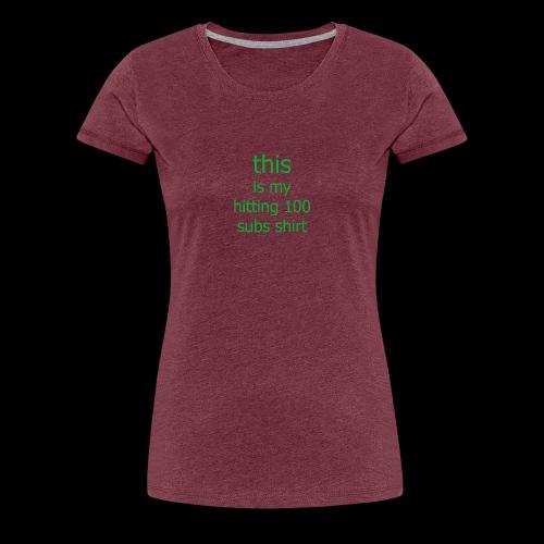 this is my game shirt - Women's Premium T-Shirt