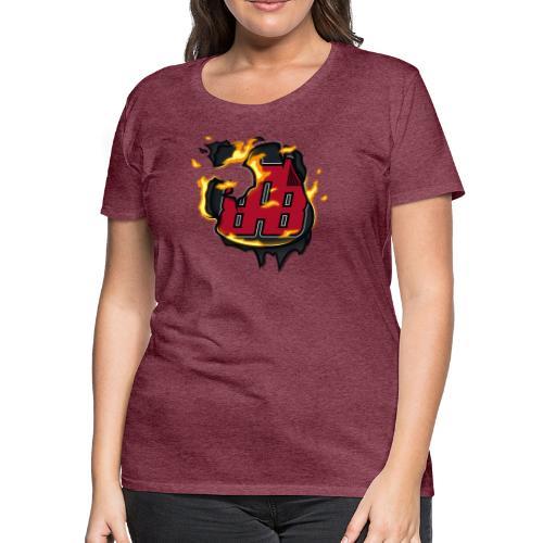 BAB Logo on FIRE! - Women's Premium T-Shirt