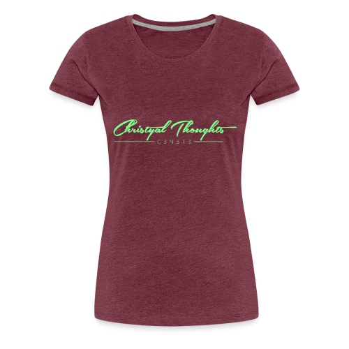 Christyal Thoughts C3N3T31 Lime png - Women's Premium T-Shirt