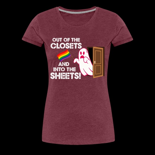 Out of the Closets Pride Ghost - Women's Premium T-Shirt