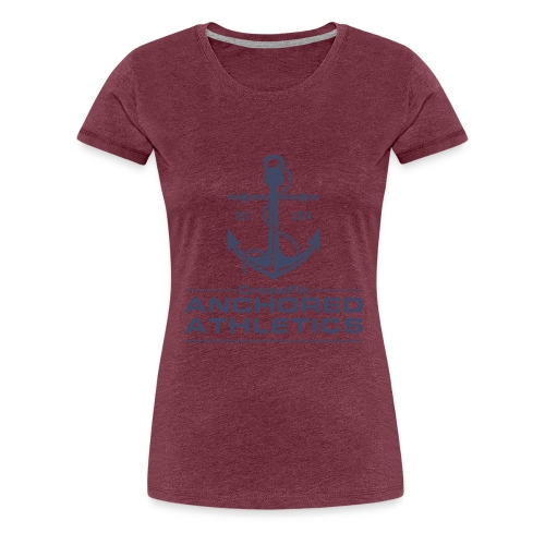 CrossFit Anchored Athletics Vertical Blue - Women's Premium T-Shirt