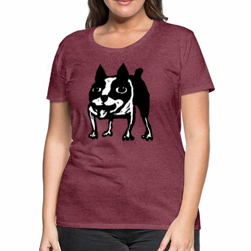 Mad Dog Boston Terrier - Women's Premium T-Shirt