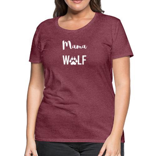 Mama Wolf Pregnancy Announcement - Women's Premium T-Shirt