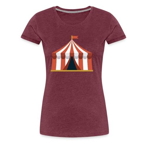 Striped Circus Tent - Women's Premium T-Shirt