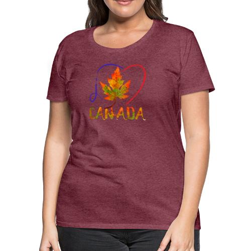 j'aime CANADA - T-shirt premium pour femmes