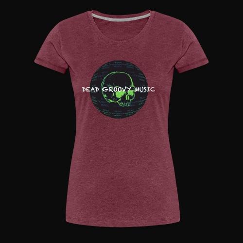 Dead Groovy Music - Detail Logo/Name - Colour - Women's Premium T-Shirt