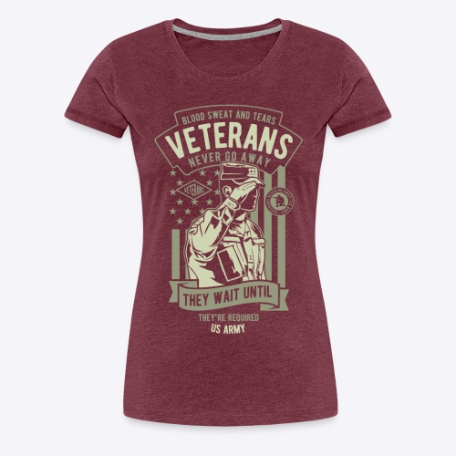 US Army Veterans - Women's Premium T-Shirt