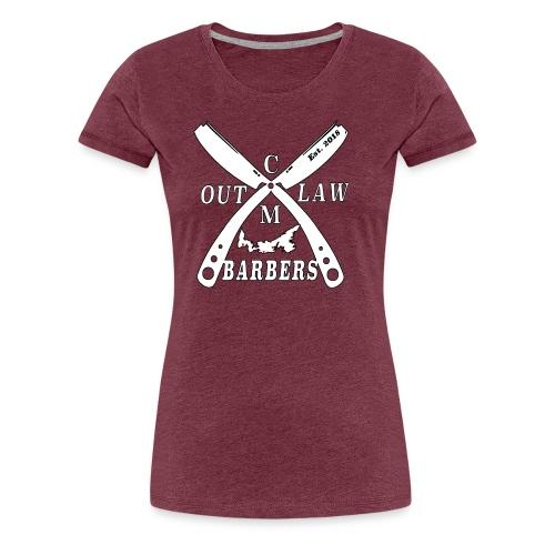 Outlaw Barbers Logo White - Women's Premium T-Shirt