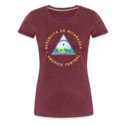 Nicaragua Flag Republica De Nicaragua - Women's Premium T-Shirt