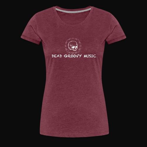 Dead Groovy Music - Basic Logo - White - Women's Premium T-Shirt