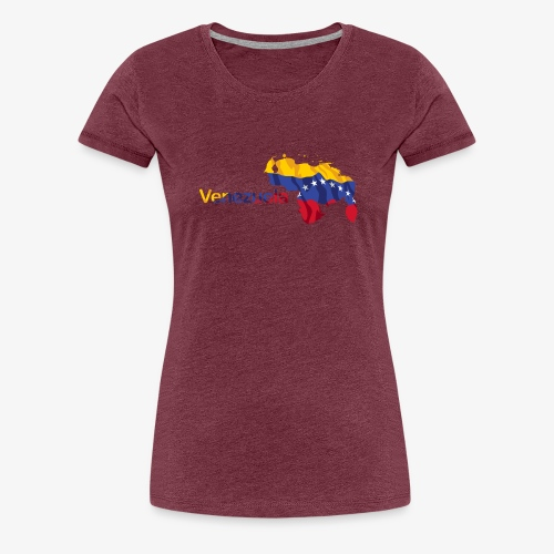 Maps Venezuela - Women's Premium T-Shirt