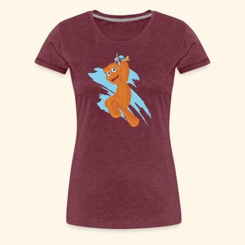 Fuzzy Puppet logo - Women's Premium T-Shirt