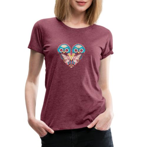 Cool Couple Heart Design Artistic Shirt - Women's Premium T-Shirt