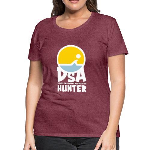 Disabled Surfers Association Hunter - Light Logo - Women's Premium T-Shirt