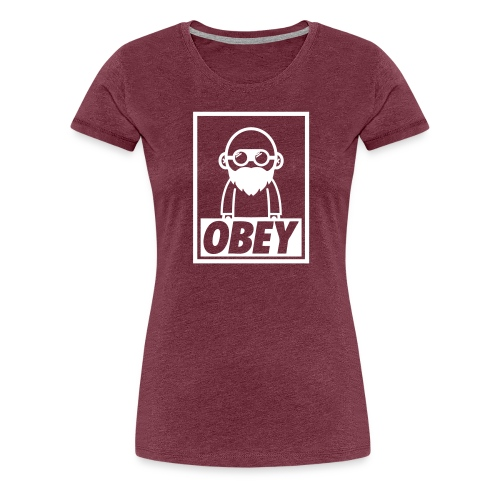 We Build Stuff - Obey (White) - Women's Premium T-Shirt