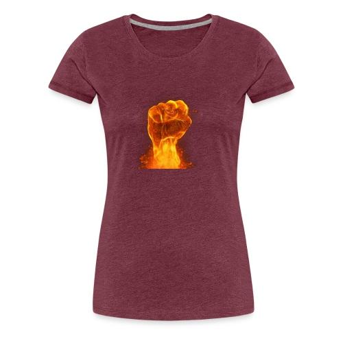 FIST OF FIRE - Women's Premium T-Shirt