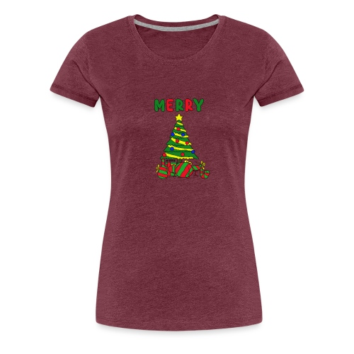 merry christmas tree instruments - Women's Premium T-Shirt
