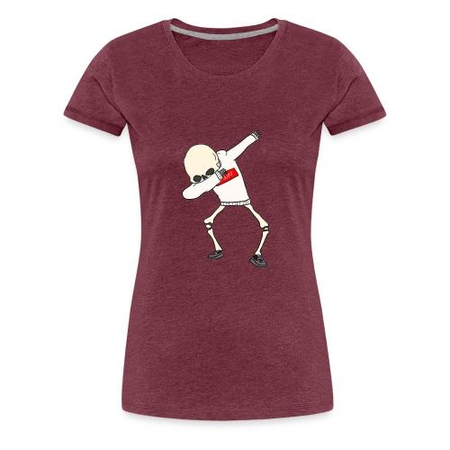 Dabbing Skeleton - Women's Premium T-Shirt