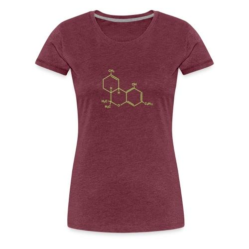 Marijuana (THC) Molecule - Women's Premium T-Shirt