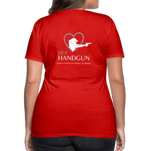 Official HerHandgun Logo with Slogan - Women's Premium T-Shirt