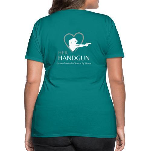 Official HerHandgun Logo with Slogan - Women's Premium T-Shirt