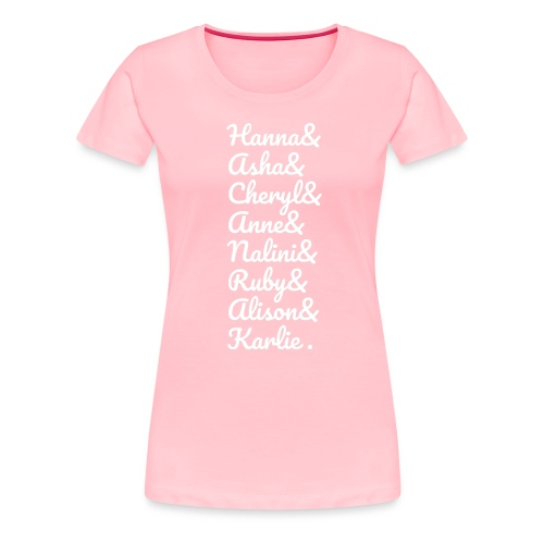 #MathsGals for Australia Fire Relief (White Text) - Women's Premium T-Shirt