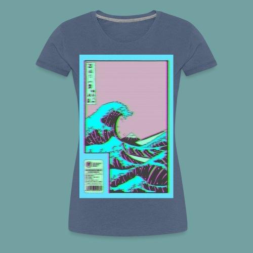 Vaporwave Wave - Women's Premium T-Shirt
