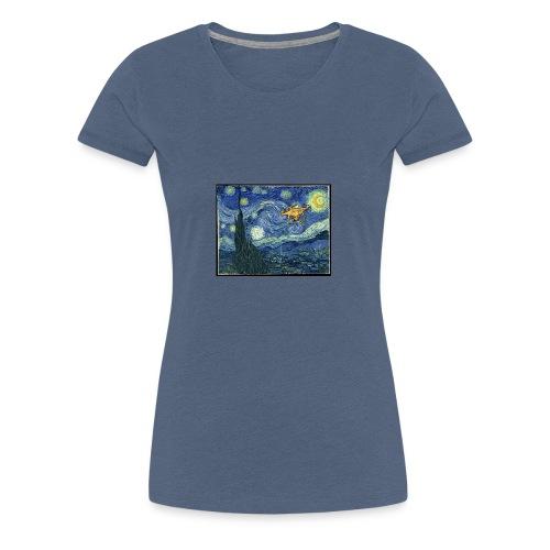 Starry Night Drone - Women's Premium T-Shirt