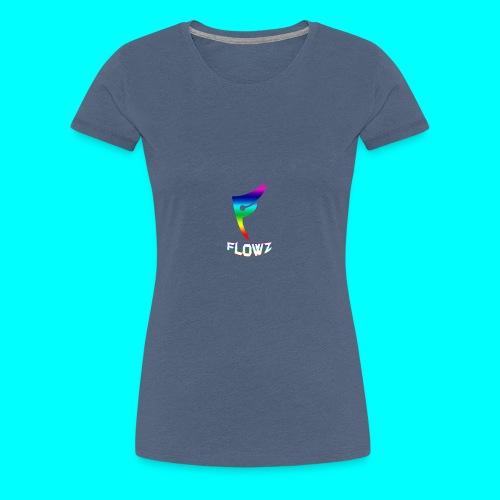 Multi-Colour Flowz Logo With Text - Women's Premium T-Shirt