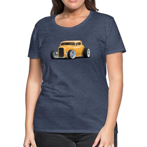 Classic American 32 Hotrod Car Illustration - Women's Premium T-Shirt