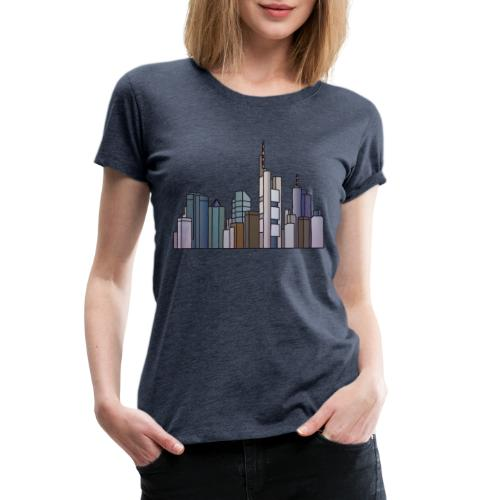 Frankfurt skyline - Women's Premium T-Shirt