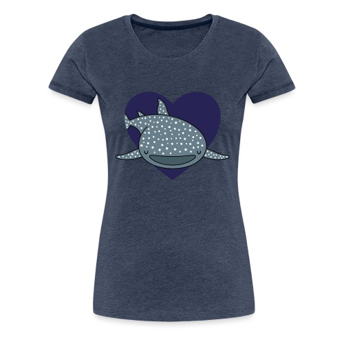 Whale Shark Love - Women's Premium T-Shirt