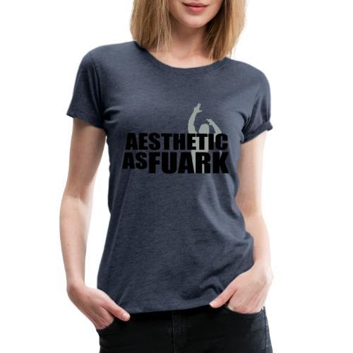Zyzz Aesthetic as FUARK - Women's Premium T-Shirt