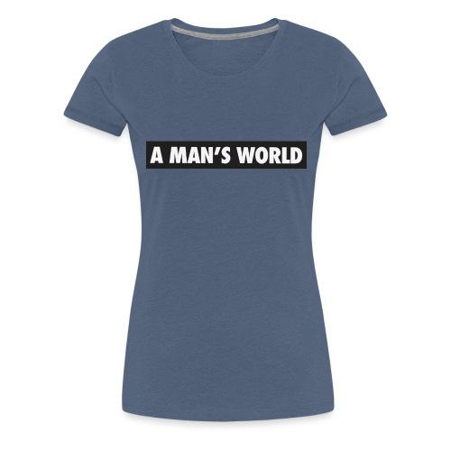 A mans World LOGO T - Women's Premium T-Shirt